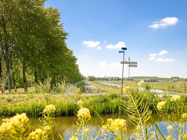 Uitzicht over Virulypad en Bieslandse polder