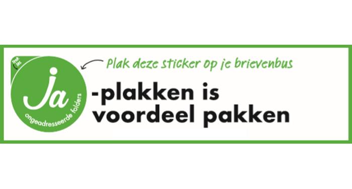 JA-sticker